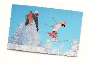 Crayons Skiing