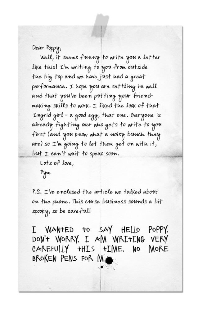 Poppy Pym #1 Pharaoh's Curse_letter