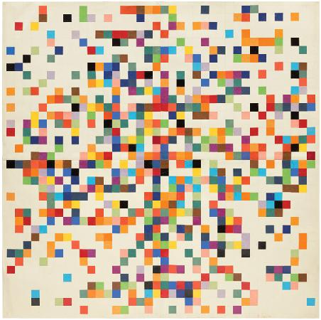 """Spectrum Colors Arranged by Chance II"" (1951) by Ellsworth Kelly"